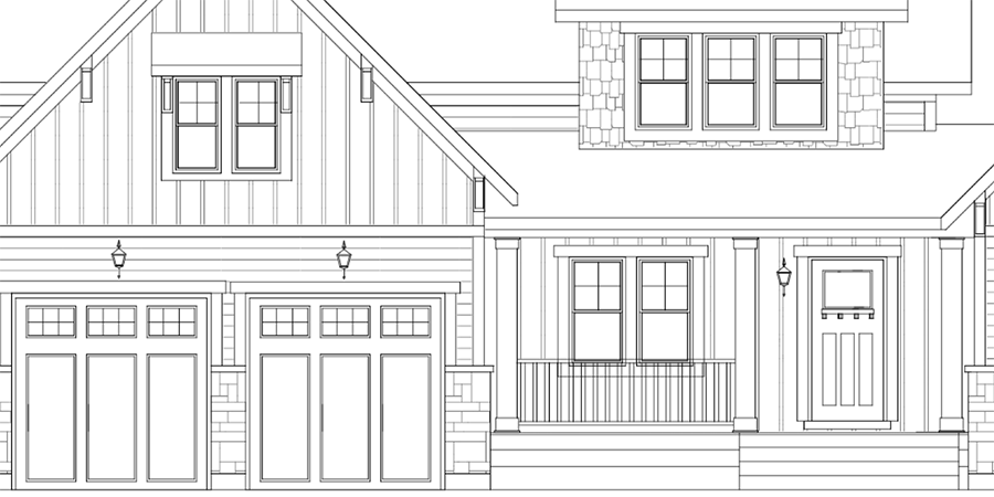 Detail of a home drawing by Cornerstones.